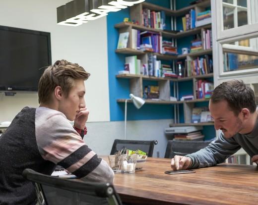 Roemer en Justin in gesprek